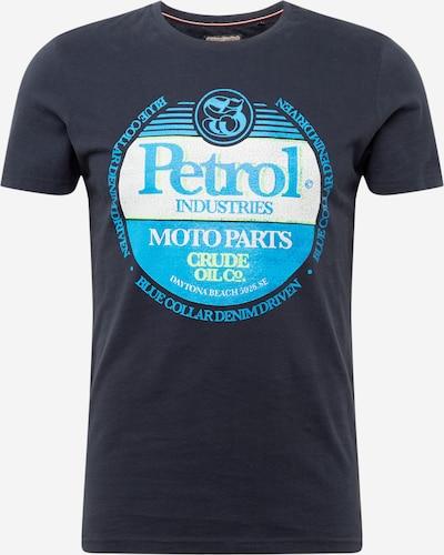 Petrol Industries Shirt in de kleur Marine / Lichtblauw / Wit, Productweergave