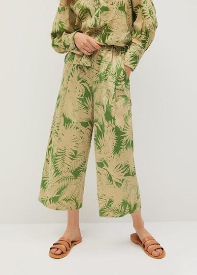 MANGO Nohavice 'kai' - zelená, Model/-ka