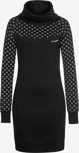 KangaROOS Sweatkleid in schwarz / weiß, Produktansicht