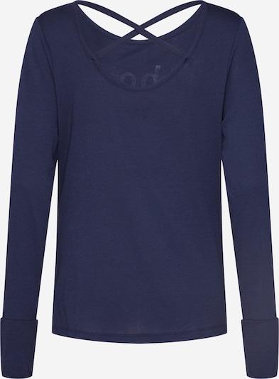Divine Flower Ikdienas krekls pieejami tumši zils: Aizmugures skats