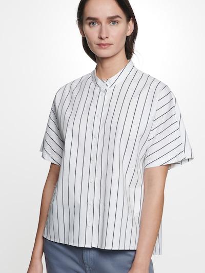 SEIDENSTICKER Bluse in navy / weiß, Modelansicht