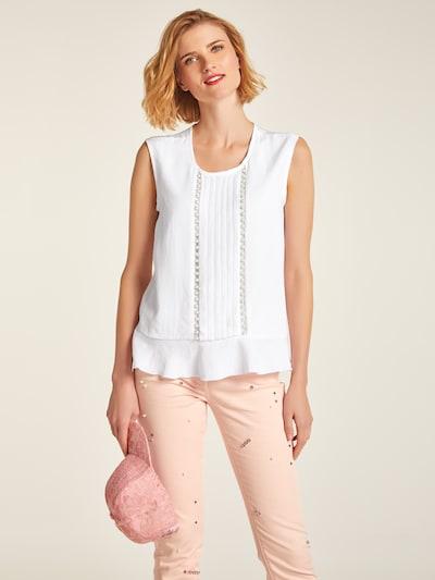 heine Blusentop in weiß, Modelansicht