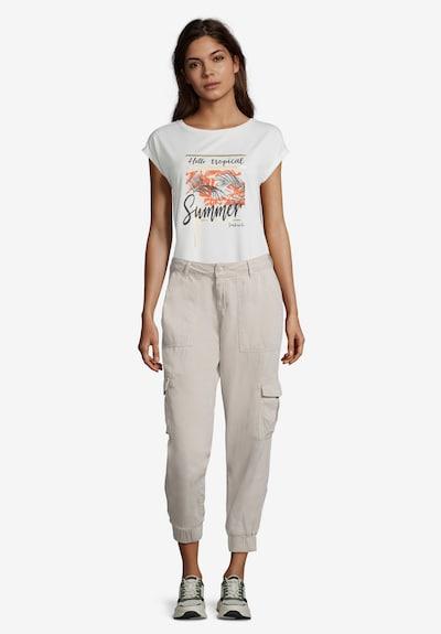 Cartoon Casual-Hose mit aufgesetzten Taschen in beige, Modelansicht