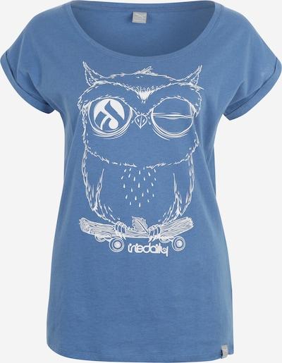 Iriedaily Tričko 'Skateowl 2' - kouřově modrá / bílá, Produkt