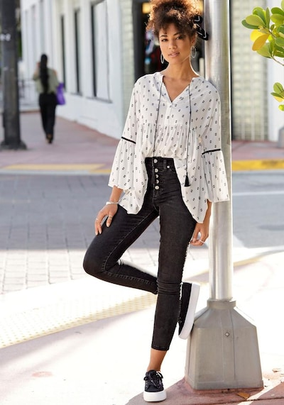BUFFALO Bluse in weiß, Modelansicht