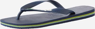 Flip-flops 'Brasil Logo' HAVAIANAS pe navy, Vizualizare produs