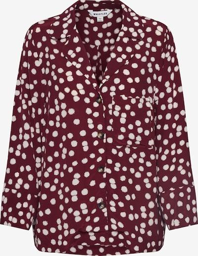 Whistles Blouse 'ILLUSTRATED FLOWER SHIRT' in de kleur Bourgogne, Productweergave