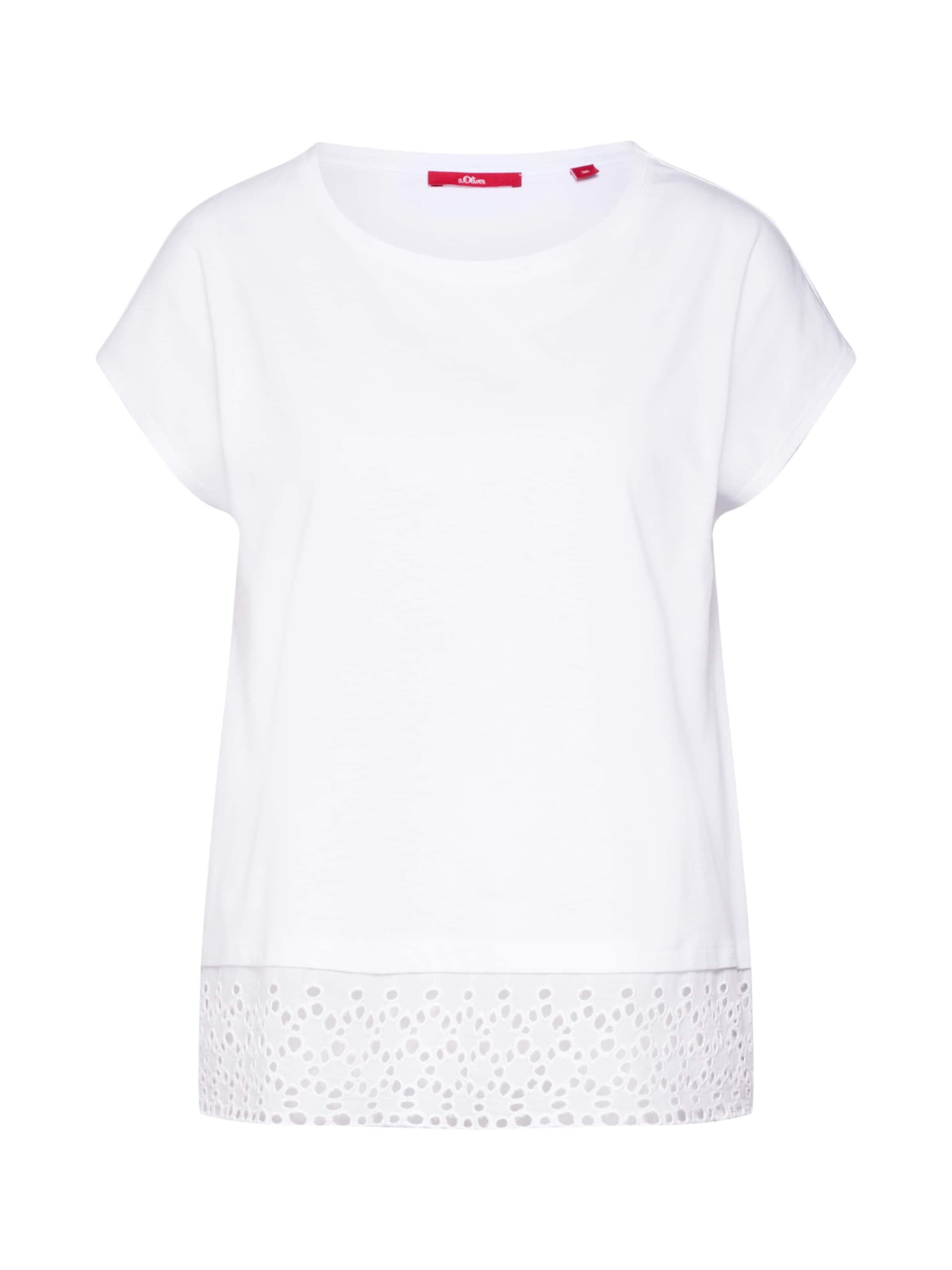oliver In S Red Label Jerseyshirt Weiß lKu1TFJc3