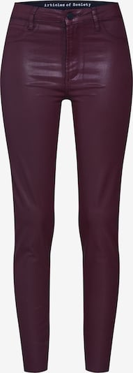 Articles of Society Hose 'Hilary High Rise Ankle Skinny Massive' in bordeaux, Produktansicht