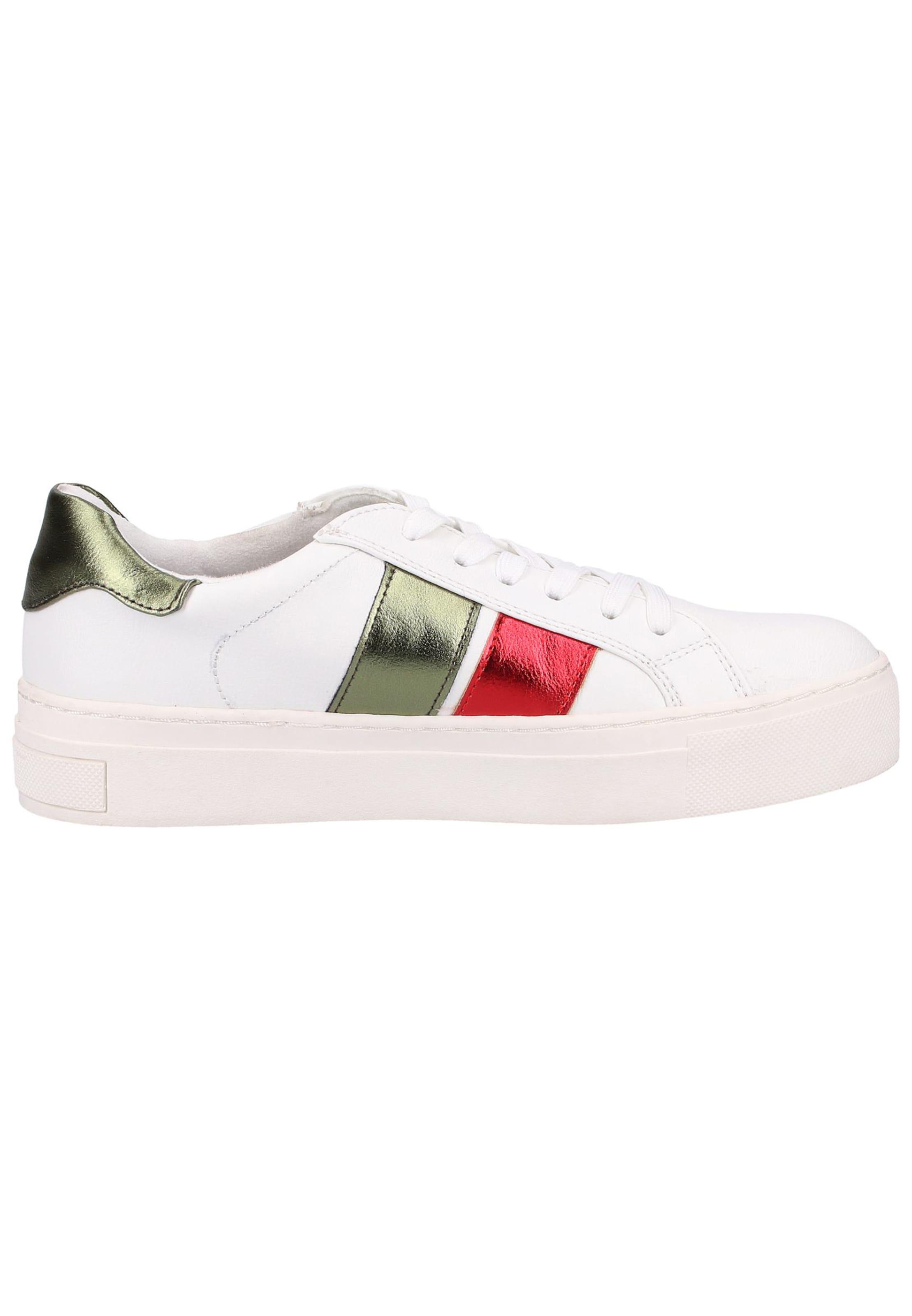 Marco Sneaker Tozzi DunkelgrünRot Weiß In ED2IHYW9