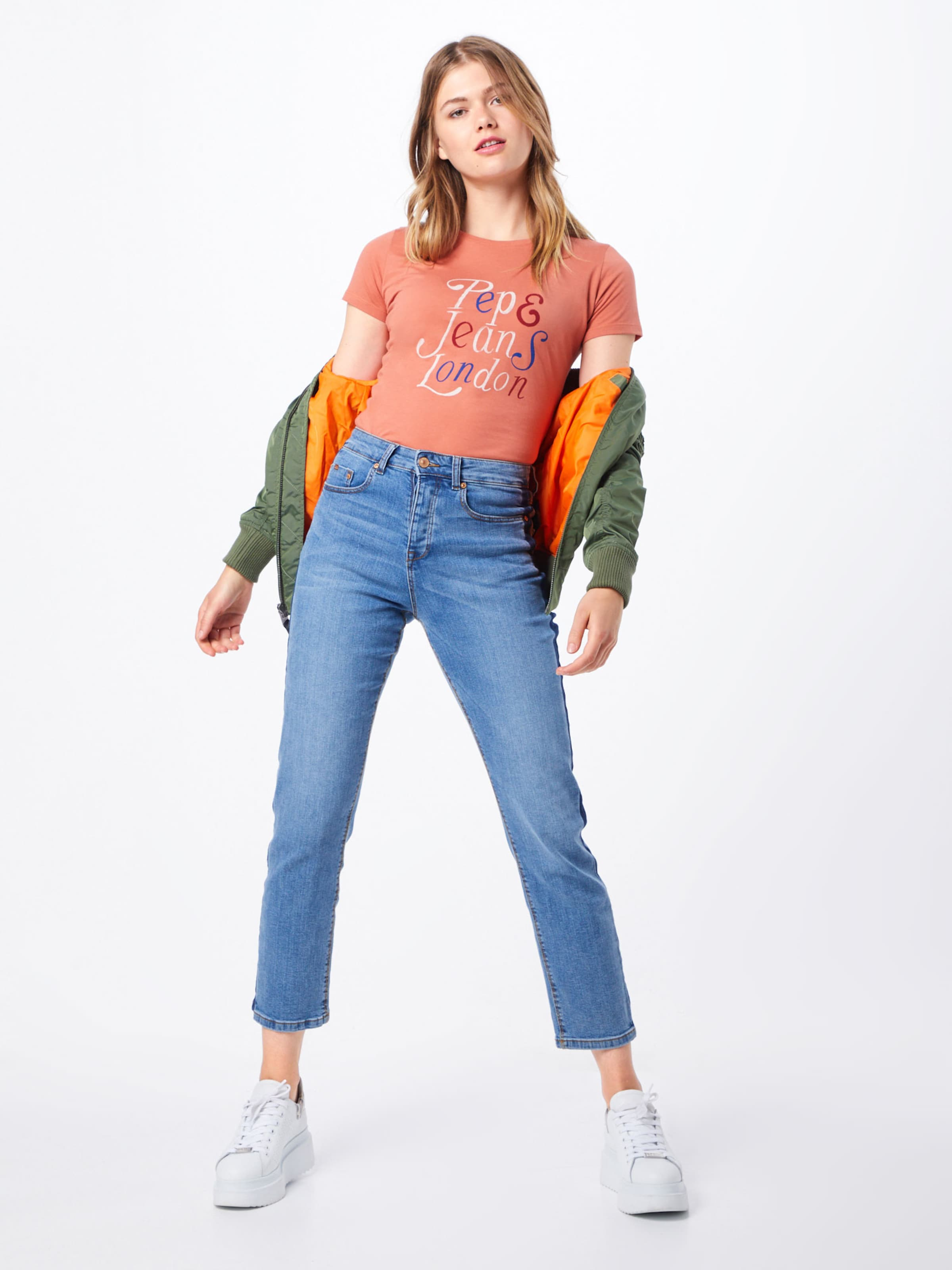 Shirt In Pepe 'mariah' Orange Jeans NOPXZ8nwk0