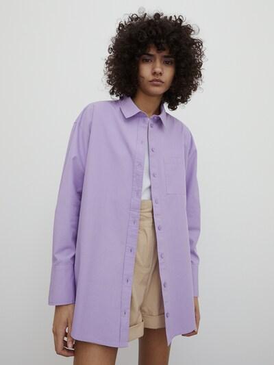 EDITED Chemisier 'Gianna' en violet, Vue avec modèle