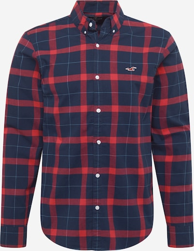 HOLLISTER Hemd 'JUN' in navy / rot: Frontalansicht