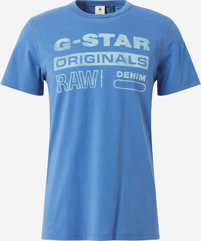 G-Star RAW Shirt 'Originals Water' in rauchblau / gelb: Frontalansicht