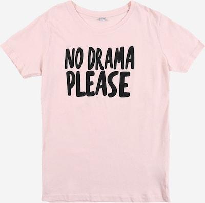 Mister Tee Shirt 'No Drama' in hellpink / schwarz: Frontalansicht