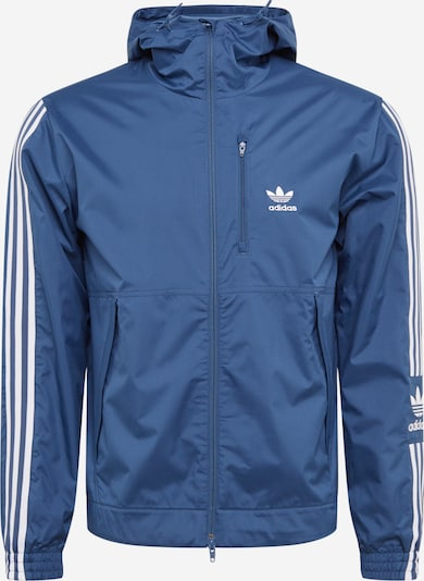 ADIDAS ORIGINALS Jacke 'LOCK UP WB' in cyanblau / weiß, Produktansicht
