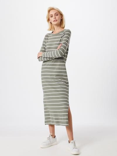 GAP Kleid 'LS KNIT MIDI DRS' in grün / weiß, Modelansicht