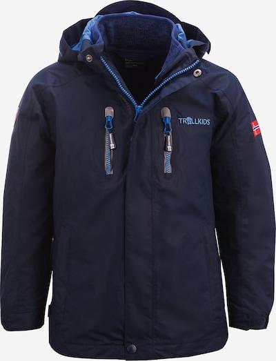 TROLLKIDS Outdoorjacke 'LOFOTEN' in himmelblau / dunkelblau / dunkelgrau / feuerrot, Produktansicht