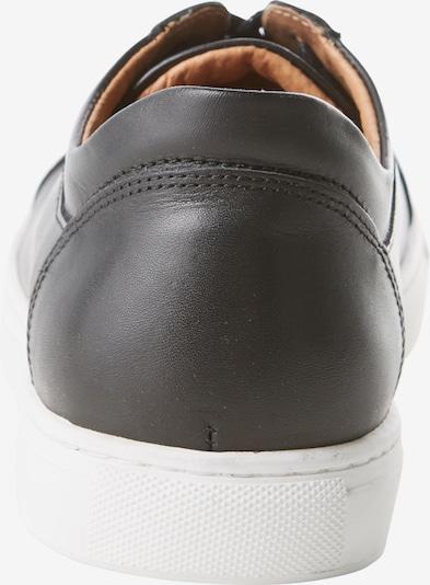 SELECTED HOMME Sneaker 'Shdavid' in schwarz / weiß: Rückansicht