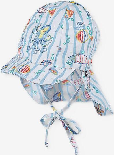 STERNTALER Mütze in hellblau / gelb / mischfarben / orange / weiß, Produktansicht