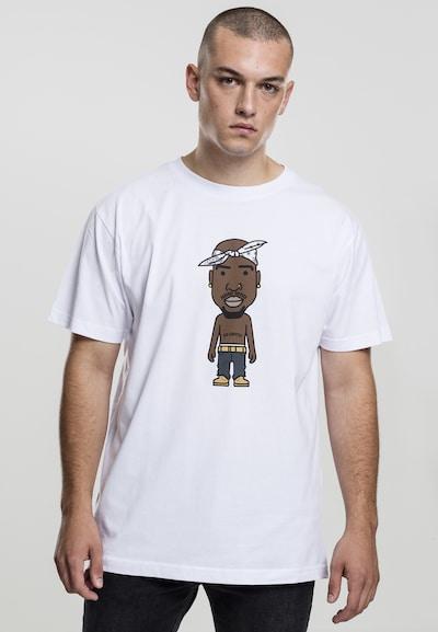 Mister Tee T-Shirt 'LA Sketch' in braun / grau / weiß: Frontalansicht