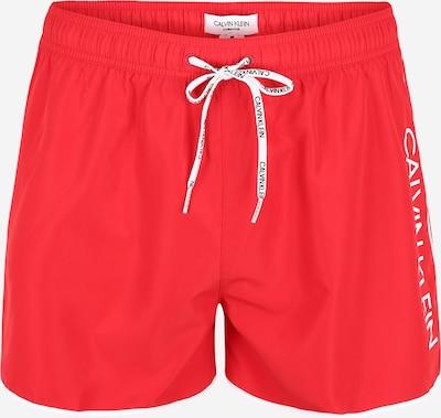 Calvin Klein Swimwear Shorts de bain en rouge / blanc, Vue avec produit