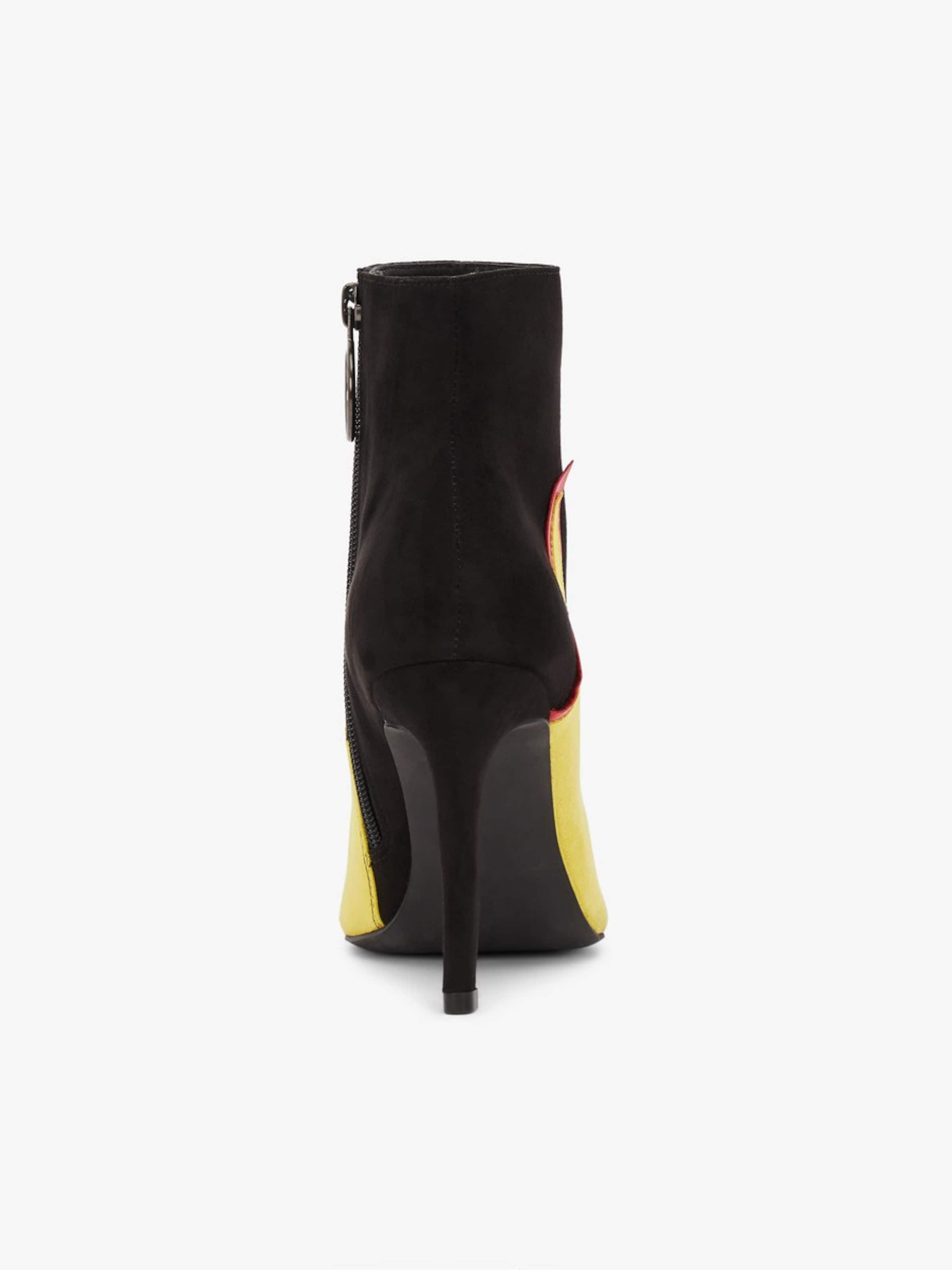 'bernice' Bianco JauneRouge En Noir Bottines kiXuOPZ