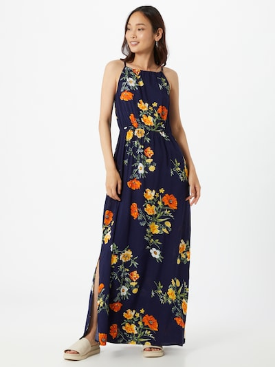 ABOUT YOU Robe d'été 'Juna' en bleu marine / mélange de couleurs: Vue de face
