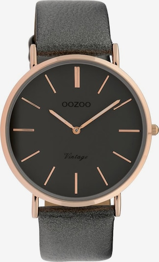 OOZOO Quarzuhr 'C9963' in rosegold / dunkelgrau, Produktansicht