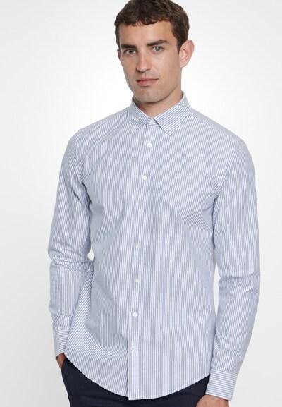 SEIDENSTICKER Společenská košile - kouřově modrá / bílá: Pohled zepředu