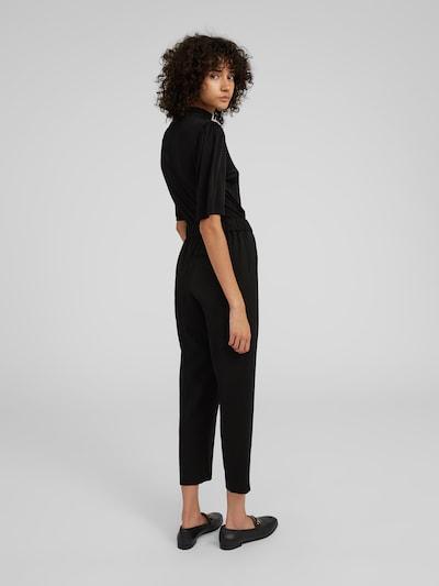 Pantaloni cu dungă 'Alvina' EDITED pe negru: Privire spate