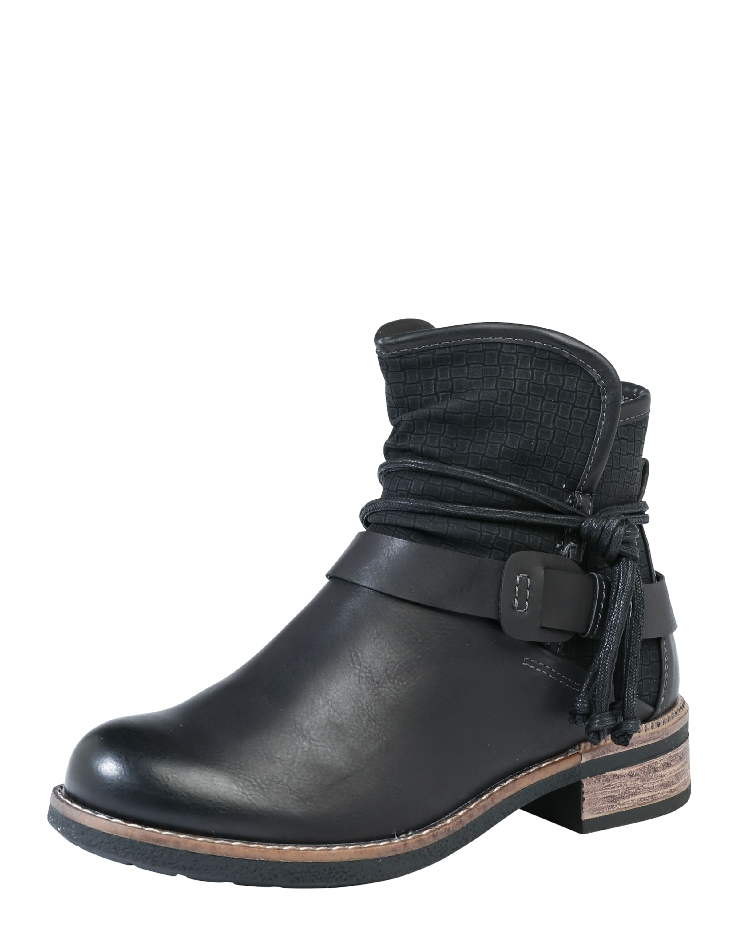 RIEKER Stiefelette in Leder-Optik