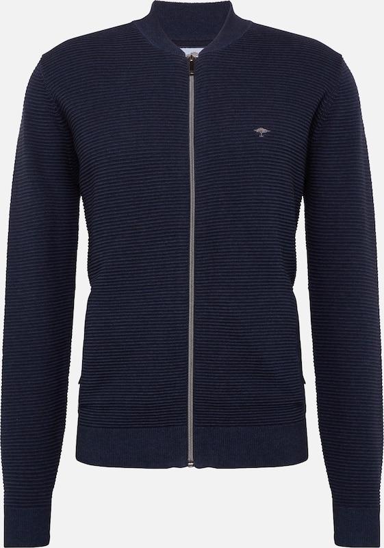 Fynch Veste En College' hatton 'cardigan De Bleu NuitNoir Survêtement 2WD9IEH