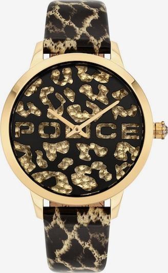 POLICE Uhr in braun / gold / schwarz, Produktansicht