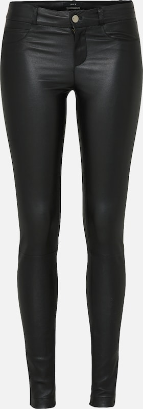 SET Stretch Lederleggings in schwarz, Produktansicht
