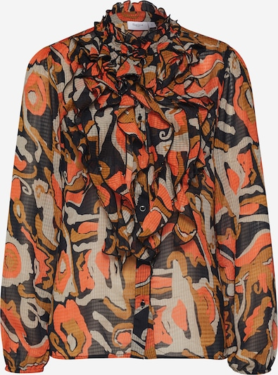 SAINT TROPEZ Bluse in orange / schwarz, Produktansicht