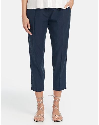 TAIFUN Hose Tuch/Kombi verkürzt Fließende 7/8 Hose Lounge Pants High in blau, Modelansicht