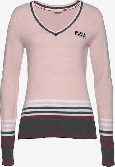 KangaROOS Pullover in dunkelgrau / beere / rosa / weiß, Produktansicht