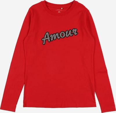 NAME IT Majica | svetlo rdeča / črna / srebrna barva, Prikaz izdelka