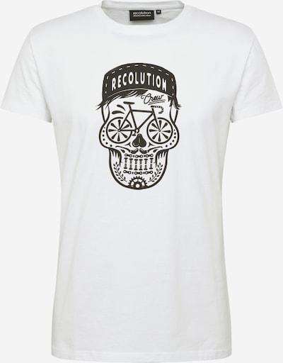 recolution T-Shirt en noir / blanc, Vue avec produit
