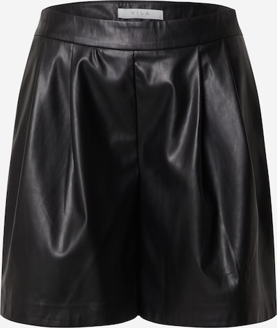 VILA Pleat-front trousers in black, Item view