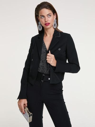 heine Blazer in schwarz: Frontalansicht