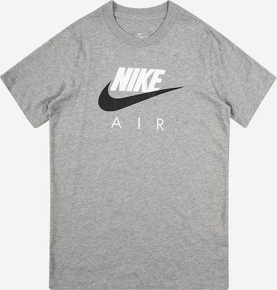 Nike Sportswear T-Shirt in graumeliert / schwarz / weiß, Produktansicht