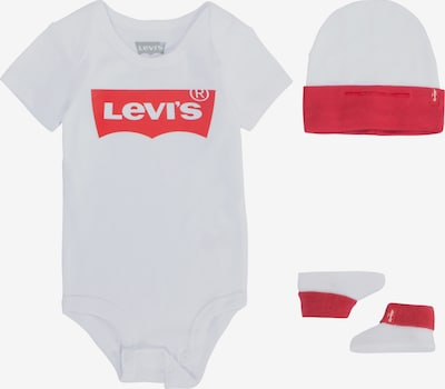 LEVI'S Strampler 'Classic Batwing Infant 3pc Set' in weiß, Produktansicht