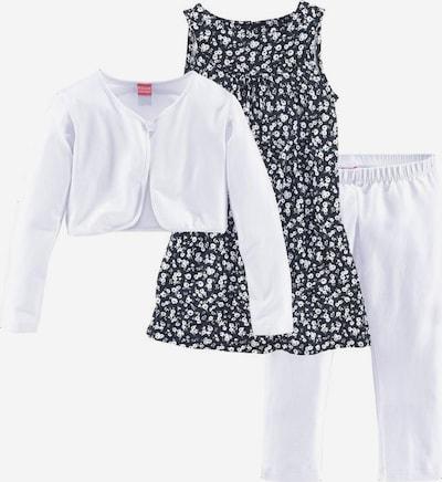 KIDOKI Bolero, Kleid & Leggings in marine / weiß, Produktansicht