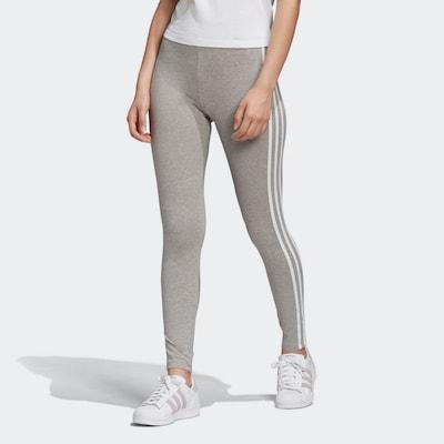 szürke melír / fehér ADIDAS ORIGINALS Leggings, Modell nézet