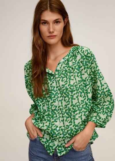 MANGO Bluse in grün / petrol / pastellgrün, Modelansicht