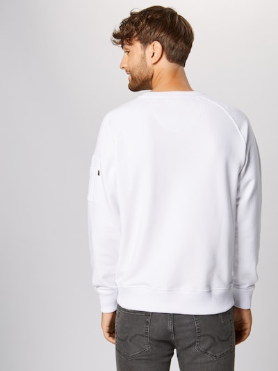 ALPHA INDUSTRIES Sweat-shirt en blanc: Vue de dos