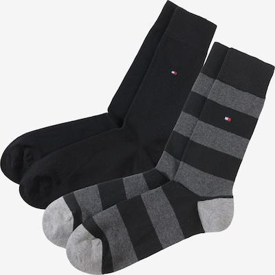 TOMMY HILFIGER Socken in hellgrau / dunkelgrau / schwarz, Produktansicht