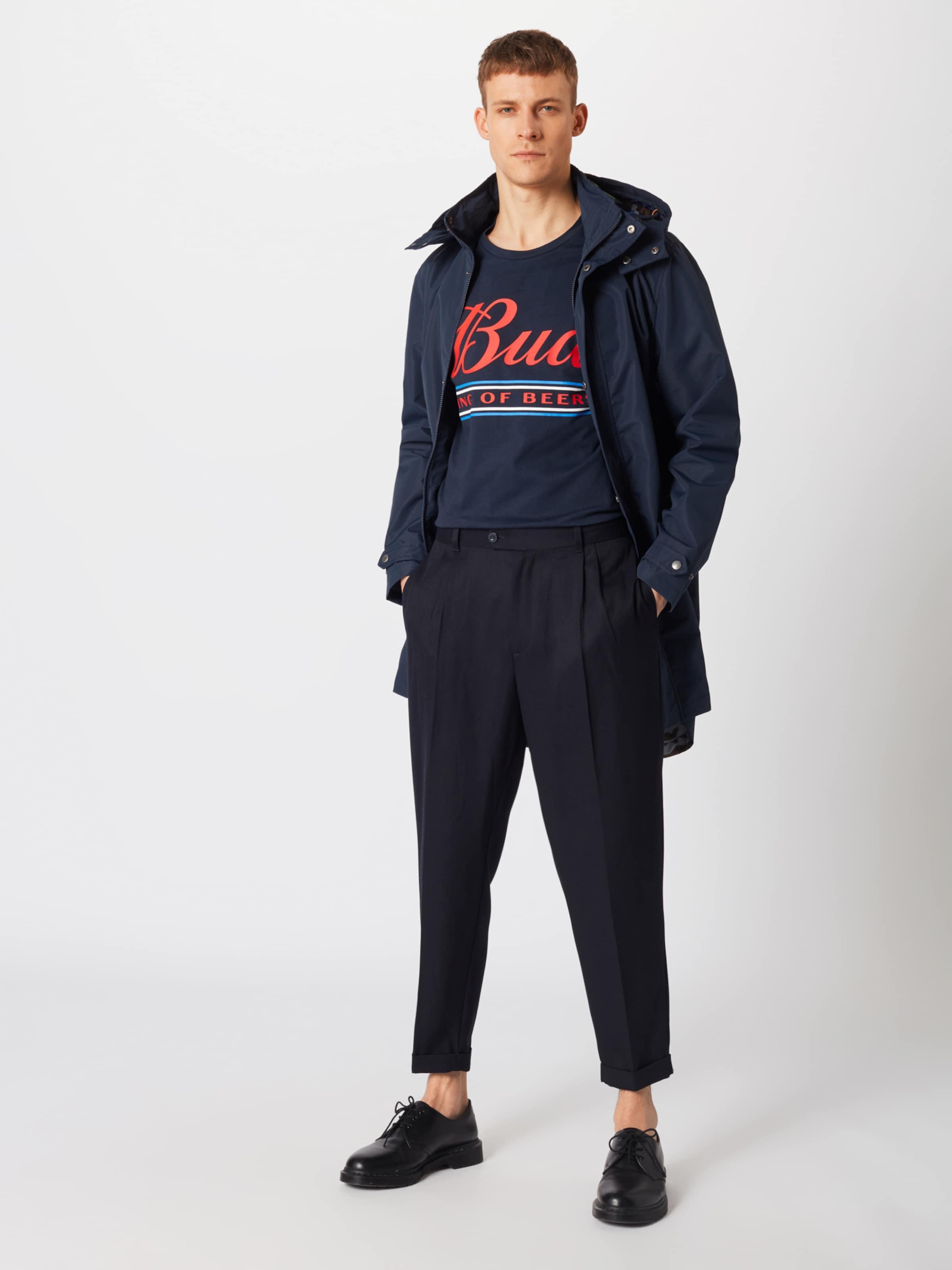 Marine 'tailored Pince Pantalon En Review Pleated' À Bleu SpLzGjqUMV